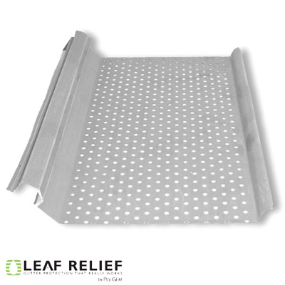 Leaf Relief for Half Round Gutters