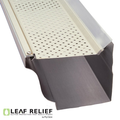 Leaf Relief Gutter Guards on a K-style Gutter - Best Gutter Services Philadelphia Suburbs